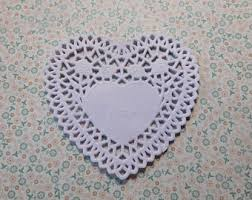 heart shaped doilies heart shaped doily etsy
