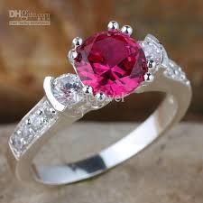 red stones rings images 2018 women 39 s 3 stone round blue sapphire band ring silver ring jpg