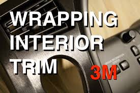 how to vinyl wrap interior trim pieces 3m brushed aluminum youtube