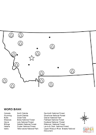 Billings Montana Map by Montana Map Worksheet Coloring Page Free Printable Coloring Pages
