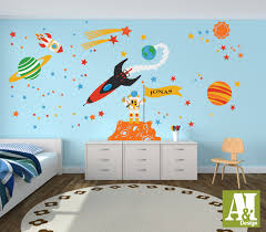 custom flag name outer space wall decals astronauts rocket custom flag name outer space wall decals astronauts rocket planets children wall