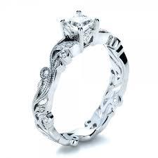 cheap princess cut engagement rings custom organic princess cut engagement ring 1251