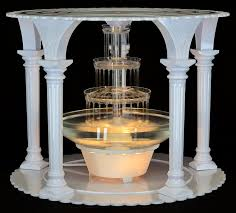 wedding cakes with fountains fanci water for wedding cake cake stands