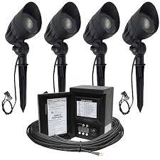 malibu landscape lighting sets malibu led landscape lighting kit four led 8301 9601 01 flood light
