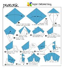 Easy Origami Peacock - peacock origami step by step peacocks feathers
