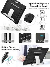 Surface Pro Rugged Case Moko New Surface Pro 2017 Surface Pro 4 Case With Stand 2 In 1