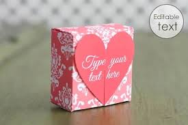 heart gifts free gift box templates to print make