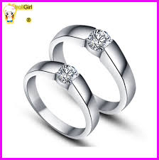 heart style rings images Korean style love knot couple engagement ring for new couple jpg