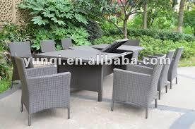 tavoli da giardino rattan allungabile tavolo rattan set yqr 377 buy product on alibaba