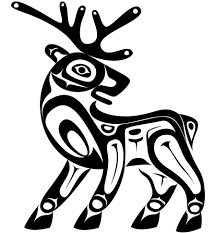 deer clipart native american pencil and in color deer clipart