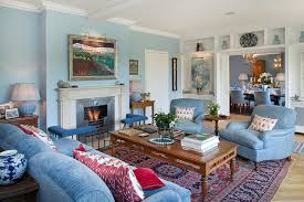 Latest Trends For Blue Living Room Designs - Blue family room ideas