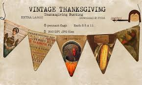 thanksgiving bunting pennant flags print large