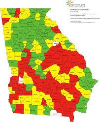 county map ga county rankings link between economy health health