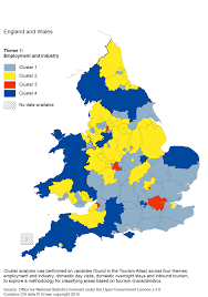 Map Of England And Wales by Sub National Tourism Office For National Statistics