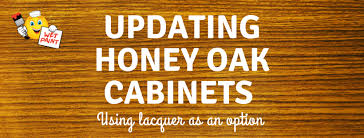how to update honey oak kitchen cabinets updating honey oak cabinets using lacquer as an option