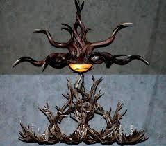 Deer Antler Chandelier Ebay L Lighting Real Antler Chandelier Elk Chandelier Deer