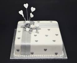 silver wedding anniversary cake decorations silver wedding cake