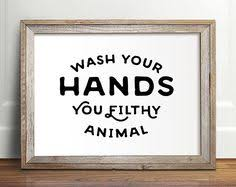 Pictures For Bathroom Walls Wash Your Worries Away Bathroom Wall Art By Thecrownprints On Etsy