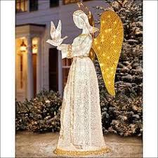 lighted angel christmas decoration lighted flying angel with trumpet christmas decoration let there