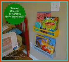 childrens book shelves huckleberry love upcycled children u0027s bookshelves from spice racks