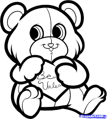 6 how to draw be my valentine be my valentine bear