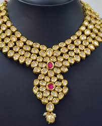 stone set necklace images Kundan jewellery set with ruby stone jewellup jpg