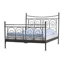 brilliant ikea noresund black metal bed frame queen size in hyde