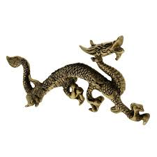 dragon figurine home decor brass sculptures and statues amazon co