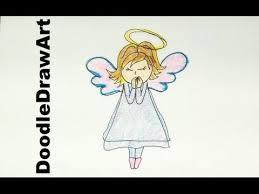 drawing draw cartoon angel draw angels christmas