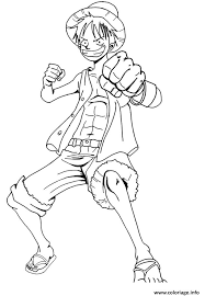 coloriage luffy 2 onepiece excite dessin