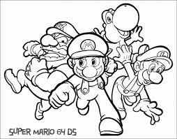 mario luigi coloring pages archives