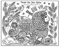 africa lion africa coloring pages adults justcolor