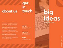 mac brochure templates orange stripes marketing trifold brochure templates by canva