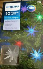 philips 10ct multi led color changing starburst string lights ebay