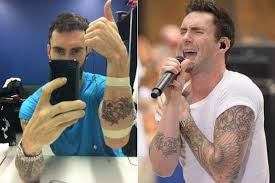 adam levine tattoos list of adam levine designs