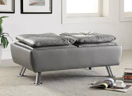 contemporary 3 pc grey vinyl sofa set by coaster