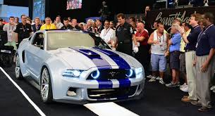 ford mustang 2014 need for speed need for speed ford mustang sold for 300 000 at barrett jackson