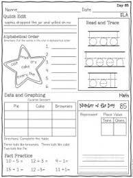 first grade morning work worksheets worksheets