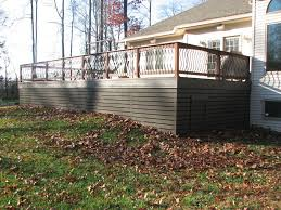 deck skirting pic only horizontal spaced boards home deck