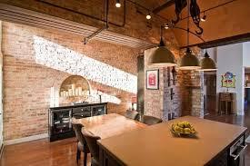 Loft Kitchen Ideas Home Design White Subway Tile Backsplash In Great Loft Kitchen