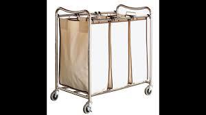Heavy Duty Laundry Hamper by Review Decobros Heavy Duty 3 Bag Laundry Sorter Cart Chrome