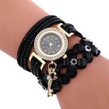 bracelet wrist watches images Buy honhx fashion chimes diamond leather bracelet lady womans jpg