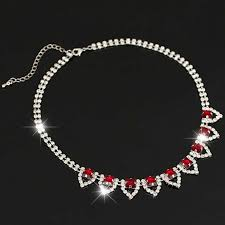 red collar necklace images Red statement necklace for women from jpg