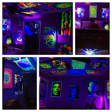 Psychedelic Room Decor 22 Best Blacklight Images On Pinterest Art Posters Black Light