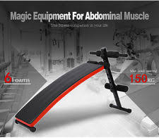 Gym Sit Up Bench Arc Shaped Bench Adjustable Folding Sit Up Gym Exercise Fitness
