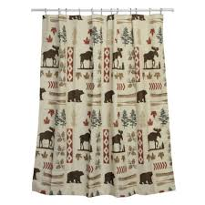 Adirondack Shower Curtain by Wildlife Shower Curtains Everything Log Homes