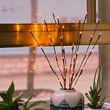 battery lighted willow branches branch lights led branches battery powered decorative lights