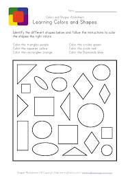 coloring pages colors and shapes worksheet coloring shapes
