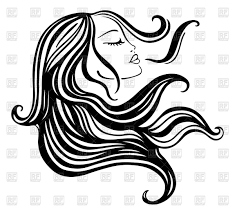 15 hair vector art woman images with long hair silhouette