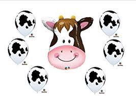 Farm Theme Baby Shower Decorations Amazon Com Cow Print Birthday Party Baby Shower Farm Balloons